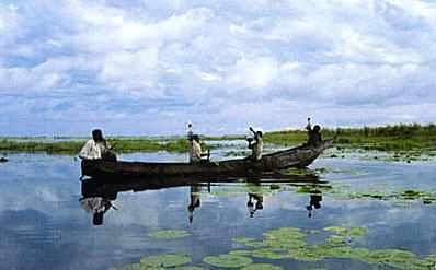 Fishermen on Lake Nawampasa