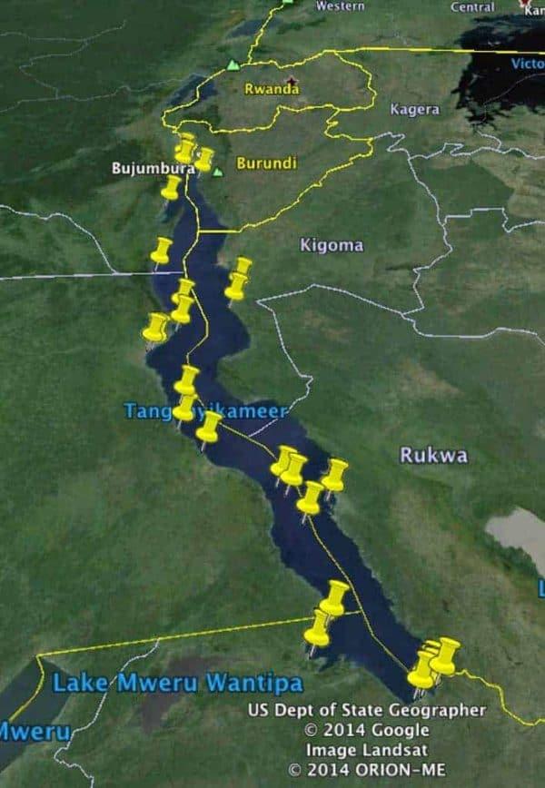 Petrochromis fasciolatus - distribution map