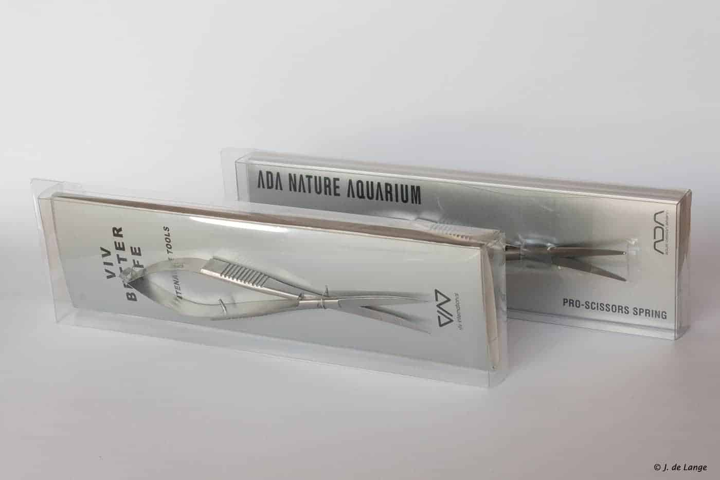 ADA and ViV scissors in their packaging